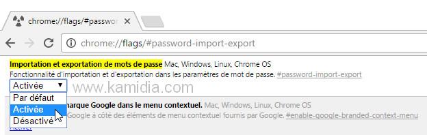 exporter les mots de passe Chrome