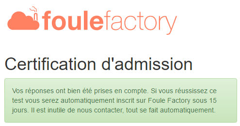 certification foule factory