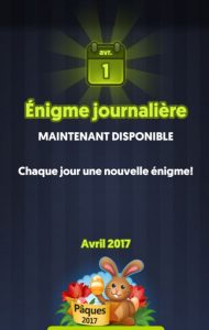 énigme journalière pâques 2017 (avril, 4 images 1 mot)